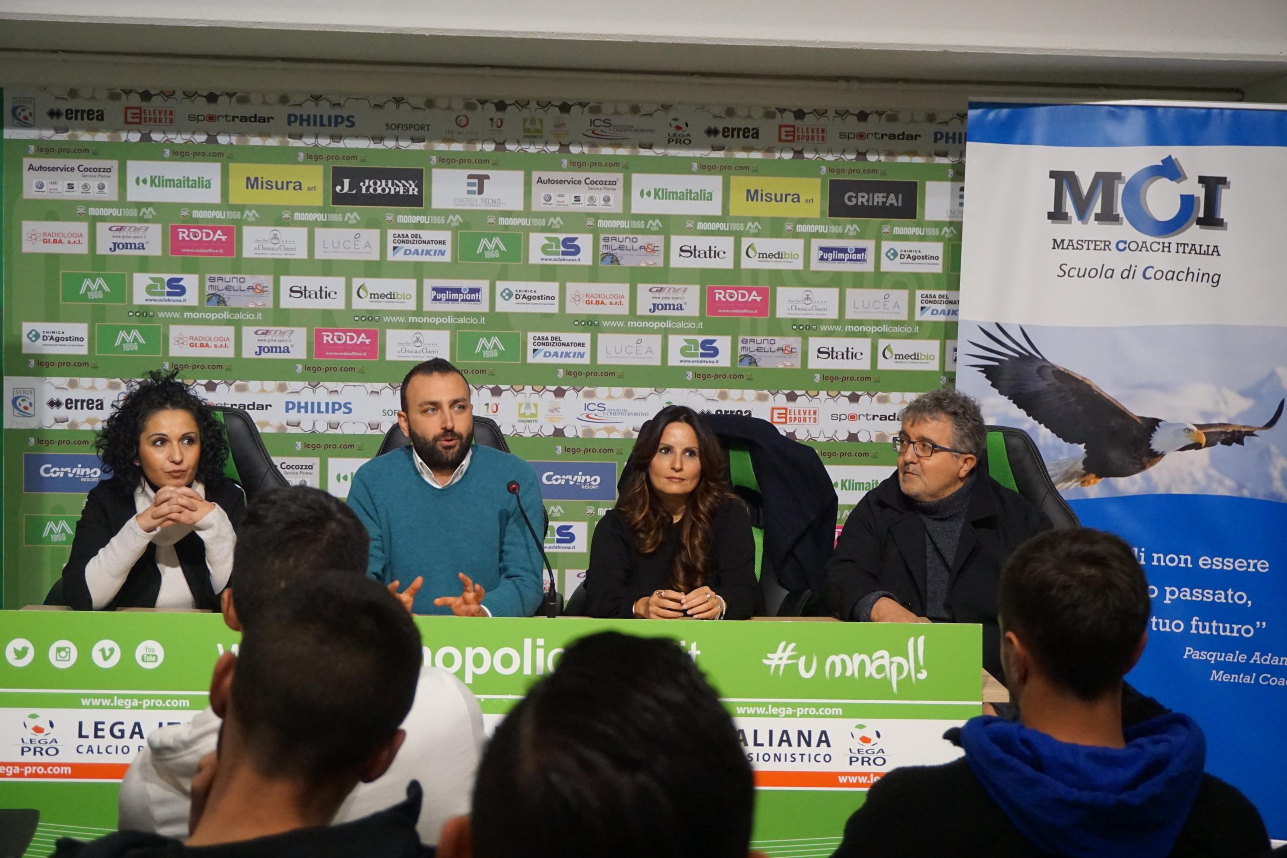 Master Coach Italia per il Monopoli Calcio